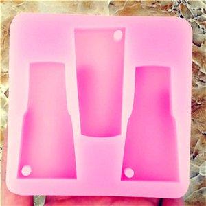DIY vaso vasos Moldes de silicona dan forma a la decoración de silicona Molde del vaso bellos moldes Llavero vaso molde del cubo EEE2633