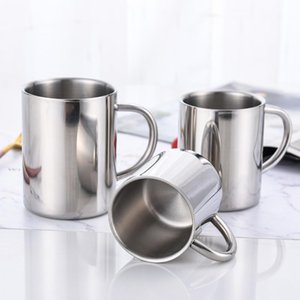 220ml 300ml 400ml Stainless Steel Mug Double Wall Travel Tumbler Insulation Coffee Milk Mug Cup