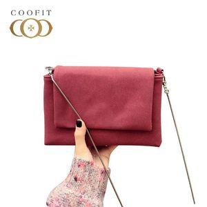 coofit Ladies Flap Crossbody Bags Girl's PU Leather Solid Flap Shoulder Bag Vintage Hasp Women Messenger Bag Bolsas Feminina New