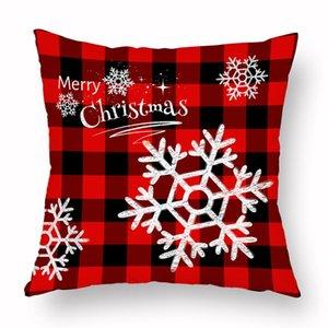 Noel Yastık Kılıfı Ekose Merry Christmas Yastık 16 stilleri Noel ağacı Geyik Kamyon Yastık Ev Partisi Dekoratif Kapaklar DWA2274