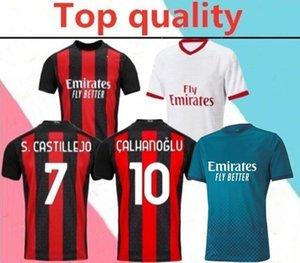 2020 2021 adult AC Milan soccer jersey 2020 21 IBRAHIMOVIC PAQUETA BENNACER REBIC CALHANOGLU men football shirt