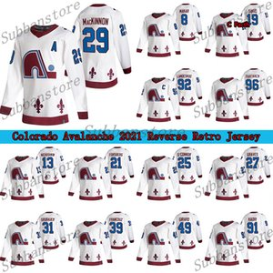 Colorado Avalanche 2021 Retro Retro Jersey Quebec Nordiques 19 Joe Sakic 8 Cale Makar 29 Nathan Mackinnon 21 Forsberg Hockey Jerseys