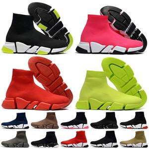 2021 Yeni Moda Hollow Bottoms luxurys Tasarımcılar Çorap Ayakkabı Kadın Erkek Günlük Ayakkabılar Tripler Loafers Bayan Çizme Çorap Eğitmenler Erkek Spor ayakkabılar