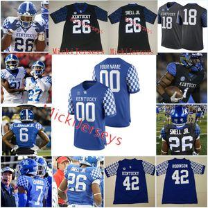 Custom Kentucky Wildcats Football Jersey Bud Dupree Austin MacGinnis CJ Conrad Mike Edwards Lonnie Johnson Za'Darius Smith Kentucky Jersey