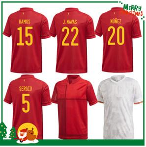 2020 2021 İspanya Eve Uzakta Futbol Forması Asensio Morata ISCO Iniesta Paco Alcacer Futbol Yetişkin Adam + Çocuk Seti Gömlek