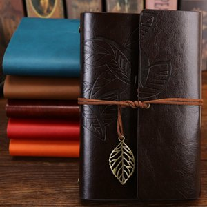 Vintage Students Bandage Notebook Solid Color PU Cover Leather Journal Travel Diary Books Retro Notepad Note Book Stationery Gift VTKY2275
