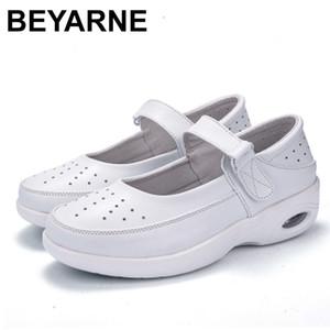 Beyarne Kadınlar Nefes Hollow Terlik Zayıflama Ayakkabı Yeni Kama Yastık Kanca Döngü Kadın Espadrilles Spor Salıncak Ayakkabı 201105