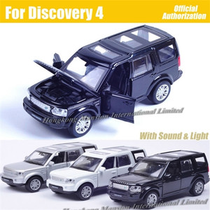 1:32 Scale Diecast Alloy Metal Luxury SUV Car Model For Discovery 4 Collection Vehicle Model Pull Back Sound&Light Toys Car X0102