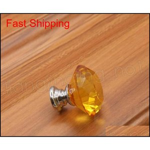 30mm Diamond Crystal Door Knobs Glass Drawer Knobs Kitchen Cabinet Furniture Handle Knob Screw Ha qylnQv dh_seller2010