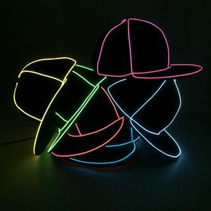 LED Party Hats Hip Hop Hats Mens New Design Baseball Cap Classical Sun Hat Mens Golf Cap Autumn Winter Christmas for Party