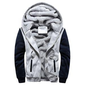 Winter Jacket Men Thick Warm Fleece Zipper Men Jacket Coat Sportwear Male Streetwear Hoodies Hooded Jacket Men 201015