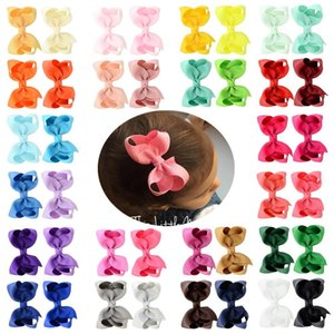 40pcs lot Solid Mulit Grosgrain ribbon Hair Clips Boutique Bows baby Girls Kids Hairpin Headwear Hair Accessories 563 201013