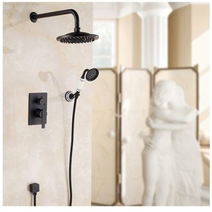 Ellen parete doccia Set vasca da bagno doccia Sistema bronzo Pioggia Cascata In Parete Bagno doccia calda e fredda Els10 bbyONS mj_bag