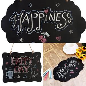 Woodiness Blackboard Cloud Shape Wave Hanging Originality Double Side Mini Fashion Door Decoration New Message Board 3ys K2