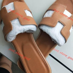 2021new Oran Oasis leather Summer Sandals Stripes blooms Slide Pool flip flops Womens Luxury Slippers For Women Scuffs Beach Slides loafers