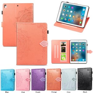 New Pad Pro 11 2020 9.7 10.2 10.5 air 2 4 ipad 4 5 6 7 8 Mini 1 2 3 4 5 Luxury flower Leather Flip case cover with bracket Card holder flip
