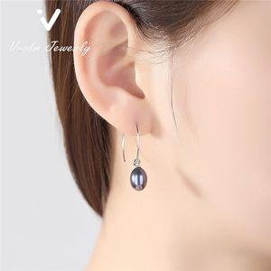 Pearl-Ohrring-Reifen-Ohrring minimalistischer Schmuck Perle Ehrring Mode Große Baumeln 925 Sterling Sliver Modeschmuck