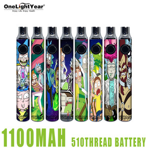 NOUVEAU POPULATEUR 510 FLOW 1100MAH Batterie de vape Batterie 510 Batterie avec batterie VCAN rechargeable Chargeur USB