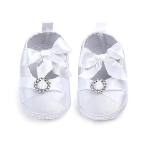Spring Autumn Infant Shoes Newborn Baby Girls Princess Style Bowknot Shoes Bow Silk Ribbon Soft Soled Footwear First Walkers