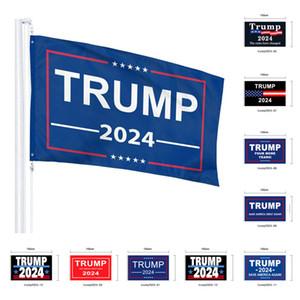 90 * 150см президент Трамп 2024 Спаси Америка снова Дональд Мага Каг Республиканский флаг США флаг Много стили буквы флаги G20402