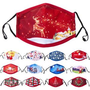 máscaras de designer de Natal máscara facial designer miúdos Papai Noel presente do floco de neve Criança máscara de impressão respirável Dustproof homens mulheres máscara