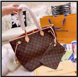 Großhandelspreis verkaufen Hohe Qualität Mode Frauen Leder Handtaschen mit Brieftasche Damen Totes mit Beutel Einkaufen Umhängetaschen 2 Stück Set