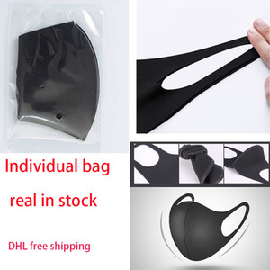 Individual Pack Anti Dust Face Mouth Cover Mask Respirator Dustproof Washable Reusable 3D Ice Silk Masks Tools Sport Outdoor Party Masks