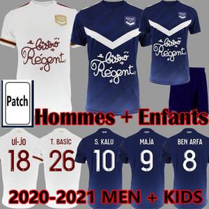 20 21 Girondins de Bordeaux Jerseys de football Maja Ben Arfa Adli Briand Shirt de football Bordeaux 2020 2021 Maillot S.Kalu Hommes Enfants Uniformes