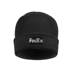 FedEx Federal Express gray logo Mens Women's Stretchy Wool Cap Knit Beanie Hats Camouflage black Gay pride rainbow gold white