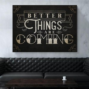 Modular Pictures Better Things Are Coming Canvas Prints Nordic Painting Wall Art Minimalism Poster Vintage Home For Living Room Decoration