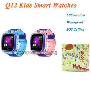 LBS Location Q12 Kids Smart Watches Anti Lost Children Waterproof Smart Tracker SOS Calling Support SIM Card with Cute Retail Box