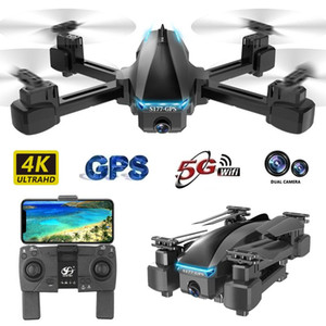 Profissional GPS Drone With 4K 5G Wifi FPV HD Wide Angle Dual Camera Foldable Mini Dron RC Quadcopter Gift
