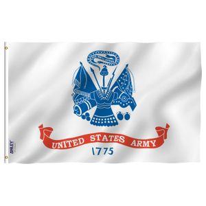 Anley Fly Breeze 3x5 Pie Argent Flag - Banderas militares de Estados Unidos Poliéster con ojales de latón 3 x 5 pies C1002