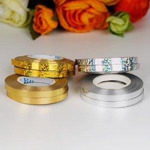 Cumpleaños Caja Globo de Oro 5mm 10M de plata de la cinta para rollos de cocina Látex Globos regalo de boda Decoración de eventos Artículos de fiesta 1 Rollo