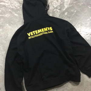 19aw Vetements Hoodies Yellow Letter Print Frauen Männer Hip Hop lose beiläufige Vetements Sweatshirts Stickerei Pullover SH190823