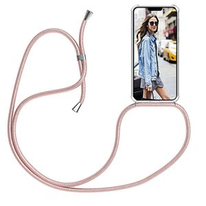 Strap Cord Chain Phone Case 12 Mini Pro XS Max XR Necklace Lanyard hang String for iPhone 11 7 8 Plus 6s X SE Coque