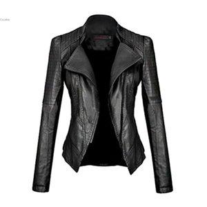 New Motorcycle Leather Jacket Women Leather Coat Outerwear Spring Ladies Jackets Coats Girl Jacket Coat fz0249