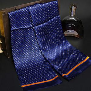 جديد خمر الحرير وشاح أزياء الرجال بيزلي الزهور نمط طباعة طبقة مزدوجة الحرير الحرير مناديل حول الرقبه # 4040 201021