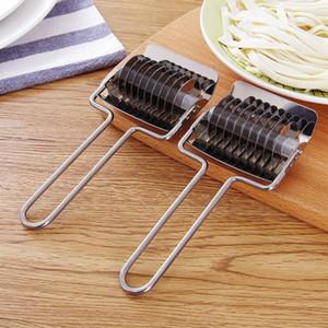 Acier inoxydable Noodle Lattice Rouleau Échalote Cutter pâtes Machines Maker Spaghetti Manuel Pâte de presse Outils de cuisson BWB2094