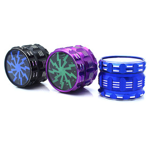 2.5 inch 63*46mm Large Dry Herb Grinders 4 Piece Hard Top Sharp Metal Grinder 4 Layers Aluminium Alloy Cigarette Crusher 161 K2