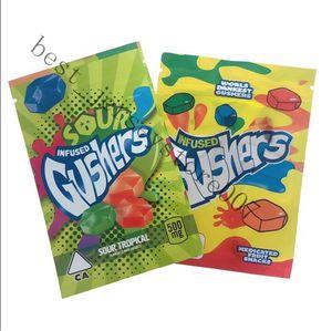 500mg Warheads Borsa Vendita calda Sour Sweet Sweet Fruity Medicated Cubi Chewy Cubes Edibles Gummies Warheads Caramelle Pacchetto Borse T2021TT
