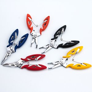 Wholesale Stainless Steel Fishing Pliers Scissors Outdoor Fisherman Line Cutter Remove Hook Fishing Tackle Tool Gadget 4 Color GWD2632