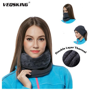 Breathable Dual-layer Fleece Warm Scarf,Women Outdoor Winter Thick Neck Warmer,Men Motorcycle Skiing Cycling Face Thermal Mask
