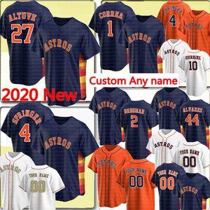 27 Jose Altuve 4 George Springer 1 Carlos Correa Jersey Alex Bregman Justin Verlander Gerrit Cole 66 Abreu Personalizado Qualquer nome Baseball Camisas