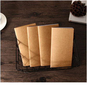 1pc lot Blank Kraft Sketchbook 110mmx210mm Traveler's Notebook Planner Memo Diary Notebook Standard Style Paper Book Pa bbytdL