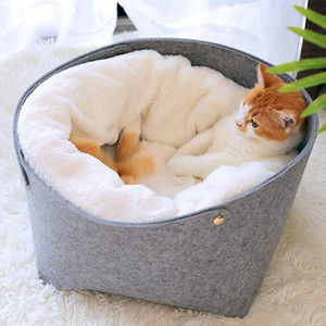 Cat Basket Pet Dog Bed for Cat Warm Bed Dogs Houses for Cats Pets Products House Puppy Soft Comfortable House