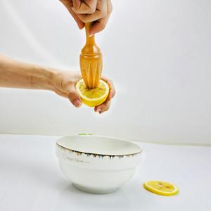 Hêtre citron Juicer manuellement jus de citron en bois orange Citrus Extractor squeezer Citron Reamer Sans Laque Cire OWF2152