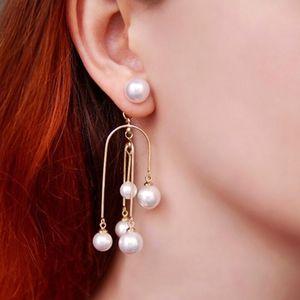 AENSOA 2020 neue Ankunfts-Simulated-Pearl Trendy lange Frauen baumeln Ohrringe einzigartige Perle Quaste Ohrringe Barock Ohrhänger