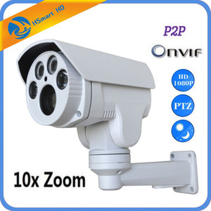 10X Zoom PTZ IP Camera 2.0MP Pan Tilt Outdoor Security Network P2P IR Night Bullet Camera H.264 H265 Compatible xmeye app