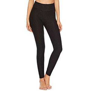 Женщины Йога Брюки с высокой талией Сексуальный спорт Push Up Высокие эластичные брюки Фитнес Спортивные леггинсы Tummy Routing Sportswear Thopk